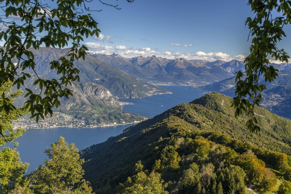 Lake Como from the mountains above Bellagio