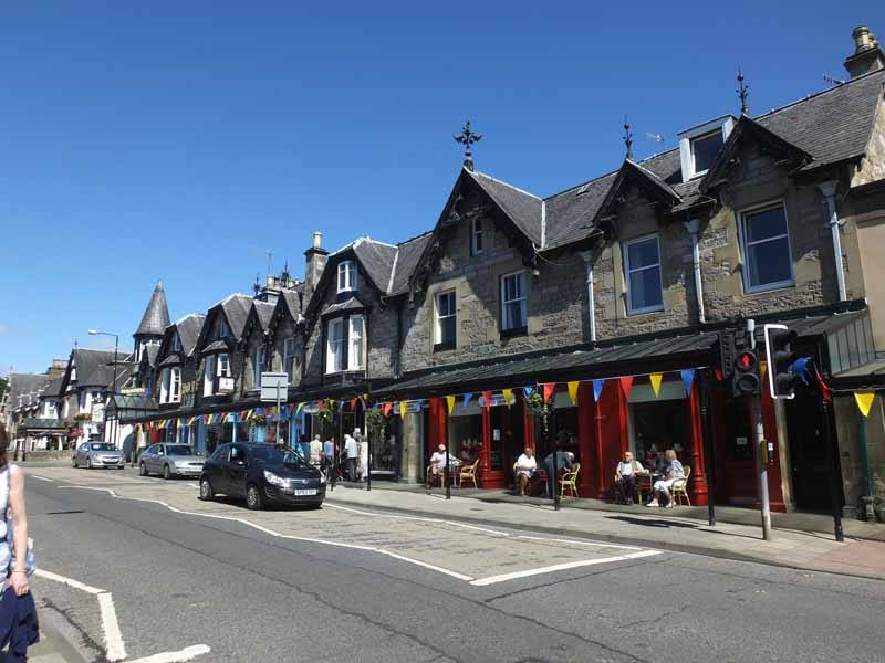 Main Street Pitlochry in Perthshire, Scotland