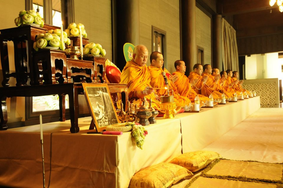 Buddhist Monk Ceremony at Jim Thompsons House & Museum