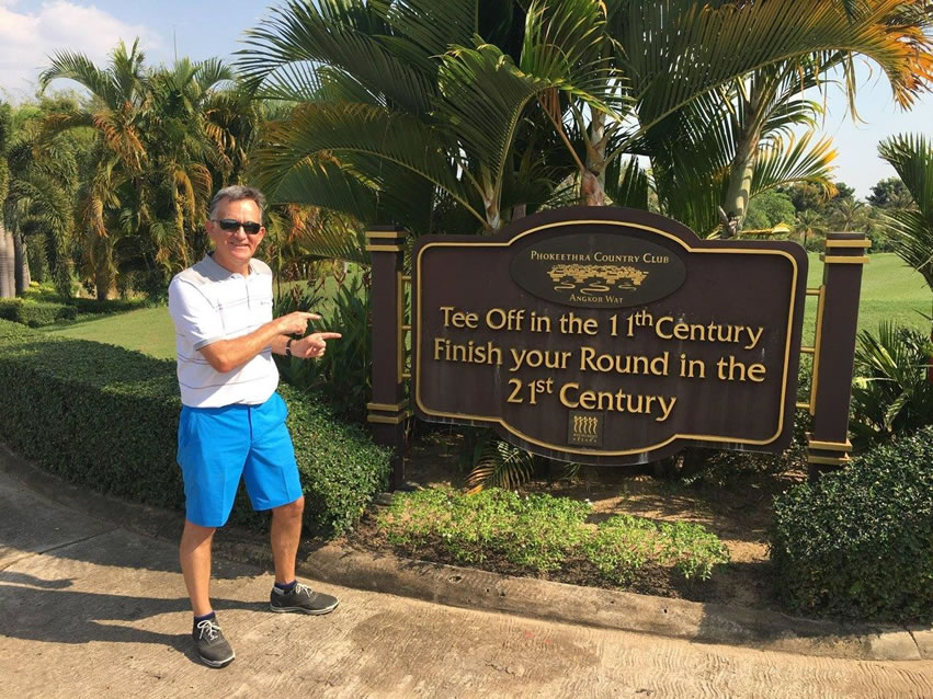 PerryGolf Co-Founder and Tour Host Colin Dalgleish at Phokeethra Country Club