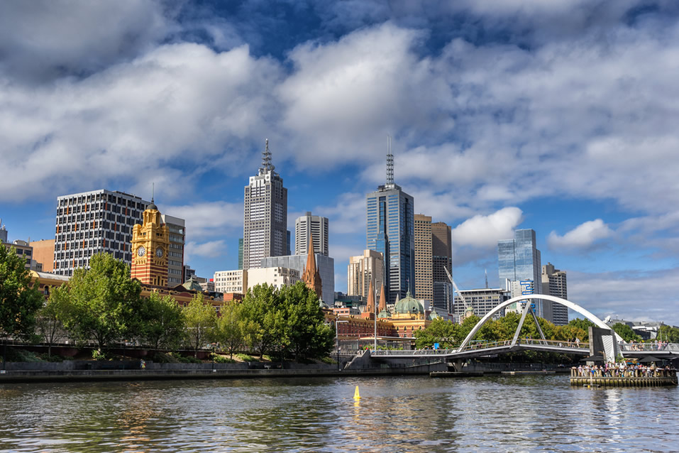 Melbourne City beside the Yarra River