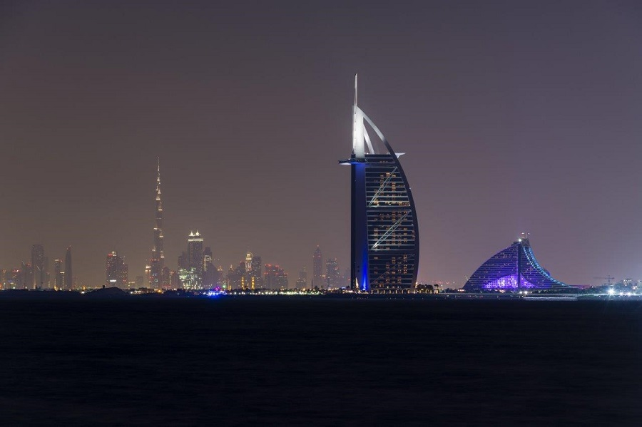 View of Dubai from Palm Jumeirah