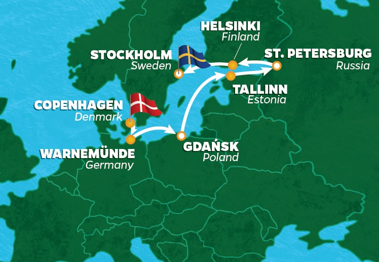 Baltic Sea Golf Cruise Nights Rounds PerryGolf - Baltic cruises 2015