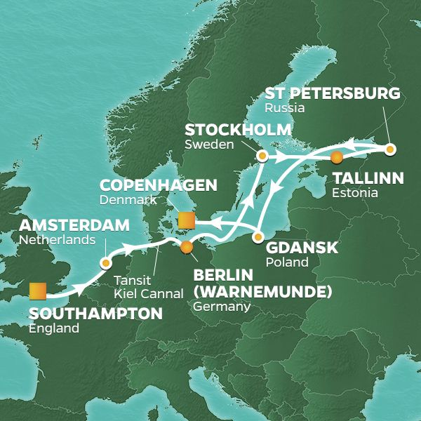 2020 Baltic Sea Golf Cruise Sweden Denmark Russia