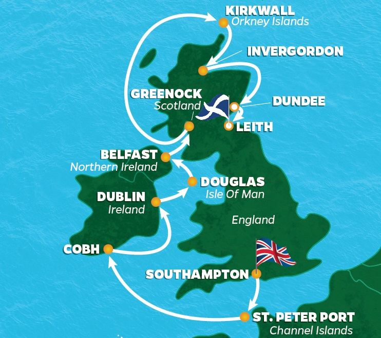 The 147th Open Golf Cruise | Scotland and Ireland | PerryGolf on golf austria map, golf italy map, golf spain map, golf in edinburgh, golf in london, battle of culloden map, scotch whisky map, british open map, golf new zealand map, st andrews map, golf portugal map, golf course map, fife map, golf usa map,