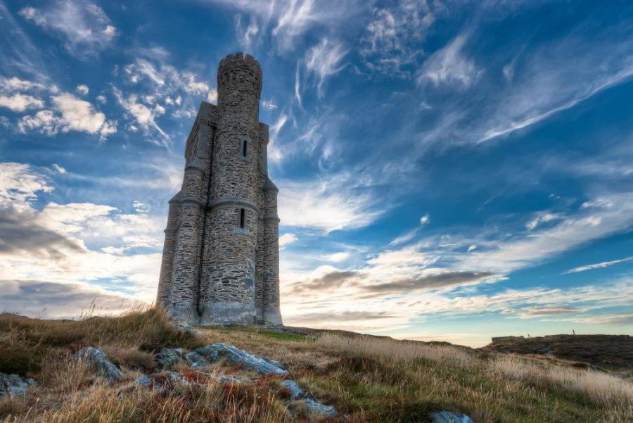 Milner's Tower on Bradda Head on the Isle of Man