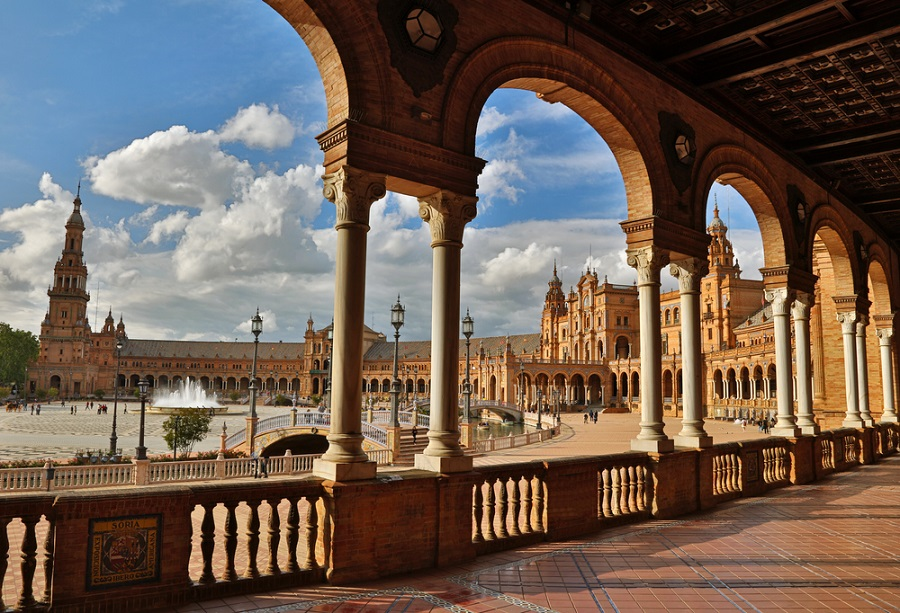 Plaza de Espana (Spain Square). Seville, Spain