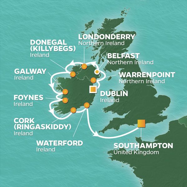 Golf Map Of Ireland.2021 Irish Links Golf Cruise Dublin Southampton Perrygolf