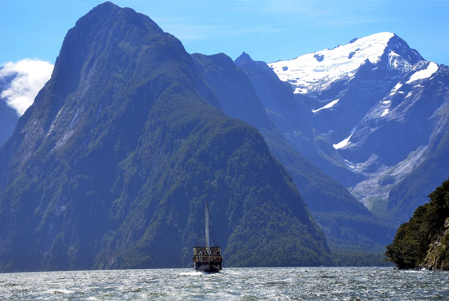 Milford Sound in the Southern Alps, New Zealand