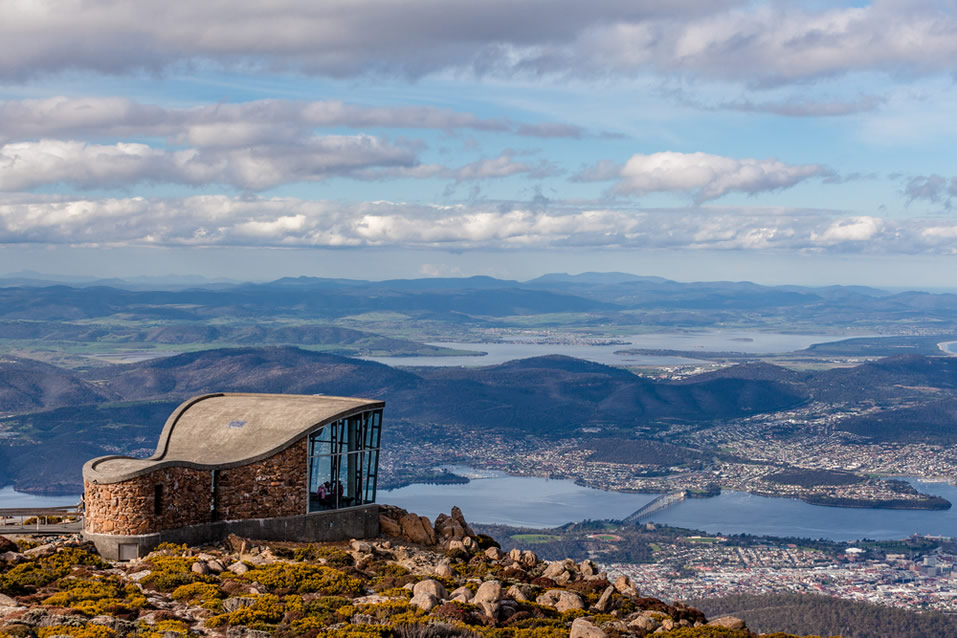 Hobart, Tasmania from the Mount Wellington Lookout