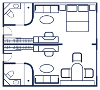 Commodore Suite Floorplan