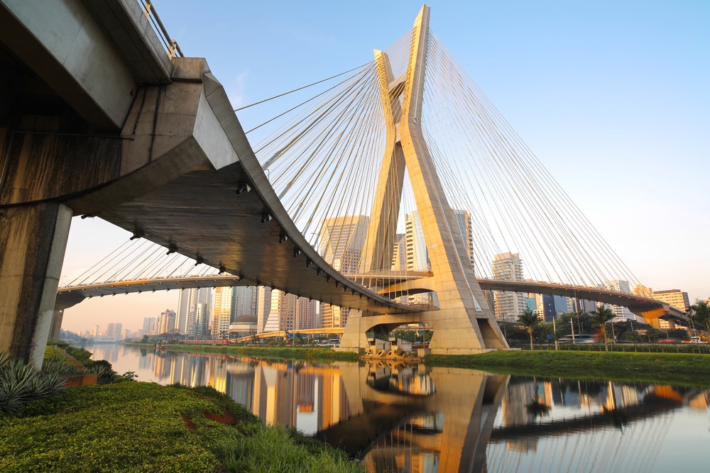 Estaiada Bridge in Sao Paulo