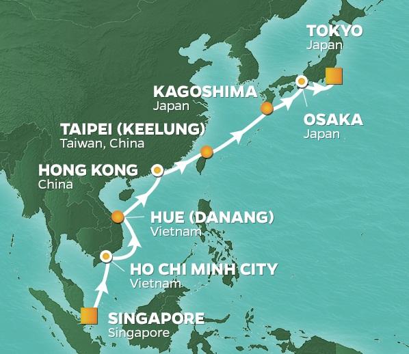 Japan vietnam hong kong golf cruise 2019 ho chi minh city hong enlarge map gumiabroncs Choice Image