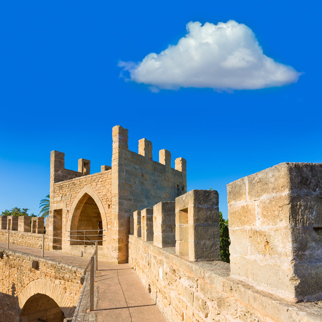 Alcudia Old Town fortress, Mallorca, Spain