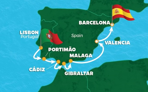 Iberian Golf Cruise Portugal And Spain PerryGolf - Portugal golf map